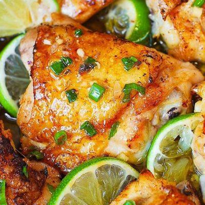 Медовый цыплёнок с лаймом, в духовке - рецепт с фото