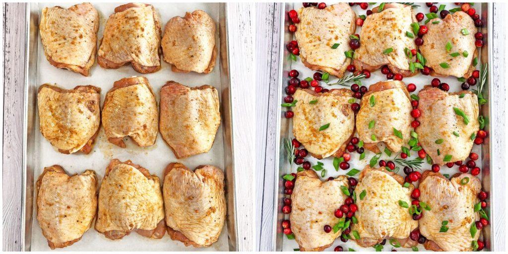 Фото рецепта - Запеченные куриные бедра в духовке с клюквой - шаг 3