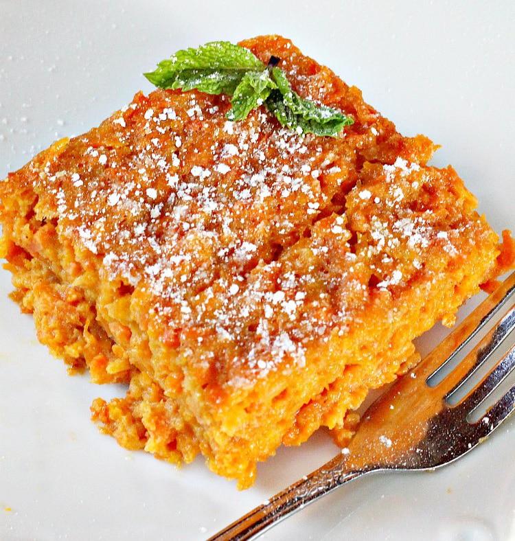 Морковная бабка – запеканка из тертой моркови