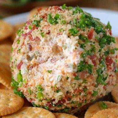 Сырный острый шар в ореховой панировке - рецепт с фото