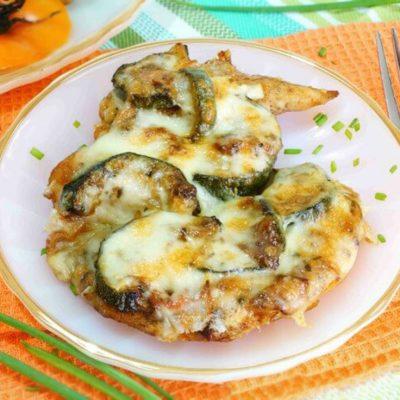 Запеканка из кабачков и курицы со сметаной и сыром - рецепт с фото