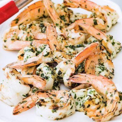 Креветки жареные в сливочном соусе - рецепт с фото