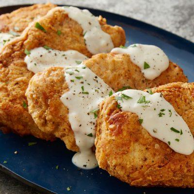 Куриные отбивные в кляре из картофеля - рецепт с фото