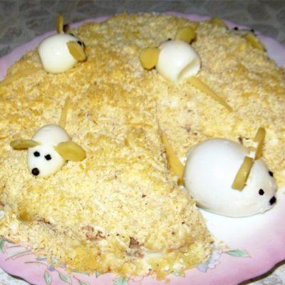 Салат «Мимоза» классический с горбушей - рецепт с фото