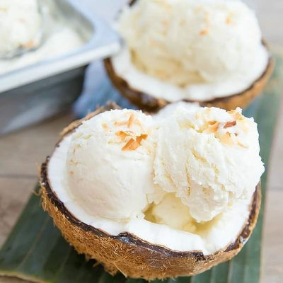 Мороженое из кокоса - рецепт с фото