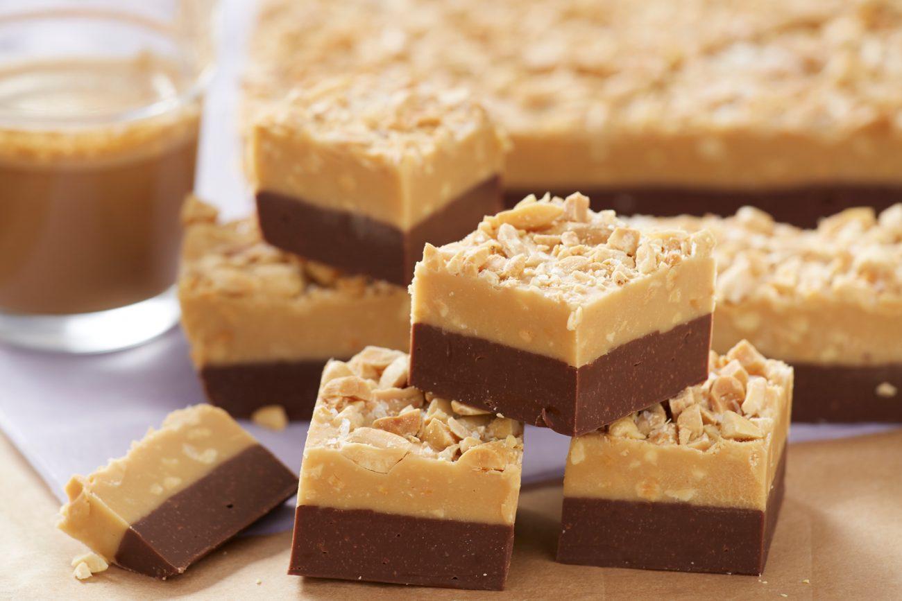 Шоколадо-арахисовая помадка с орешками (щербет в микроволновке)