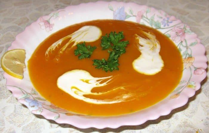 Крем-суп из тыквы с лимоном
