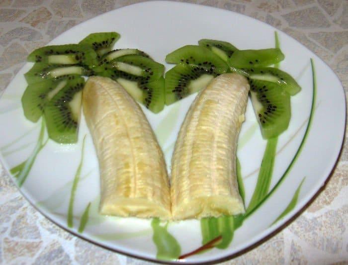 Фото рецепта - Фруктовая пальма - шаг 2