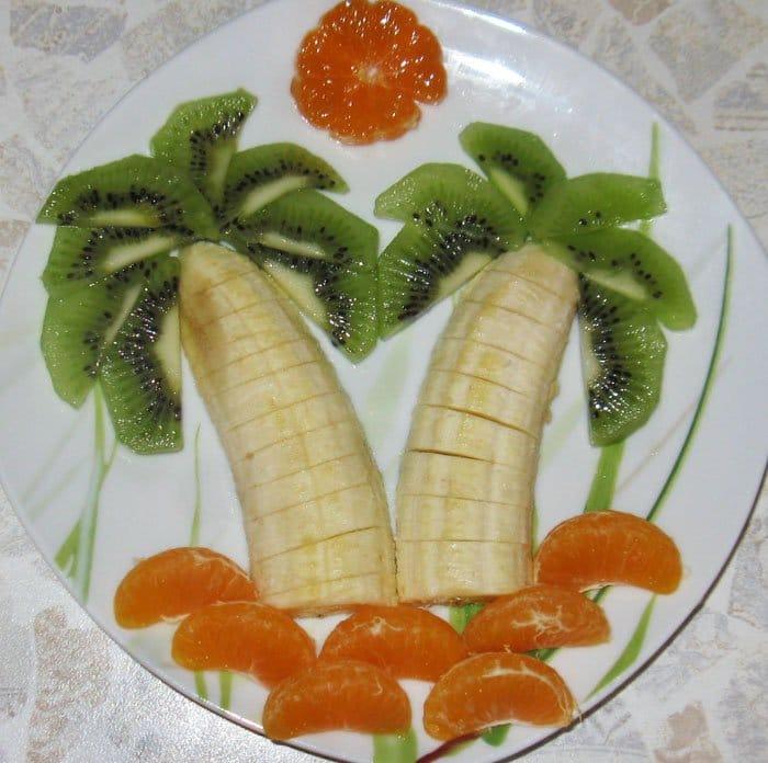 Фруктовая пальма - рецепт с фото