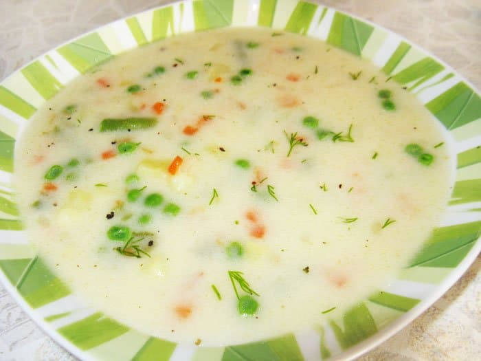 Овощной суп с сыром - рецепт с фото
