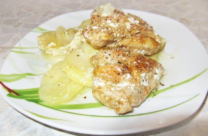 Курица по-нормандски с картошкой - рецепт с фото