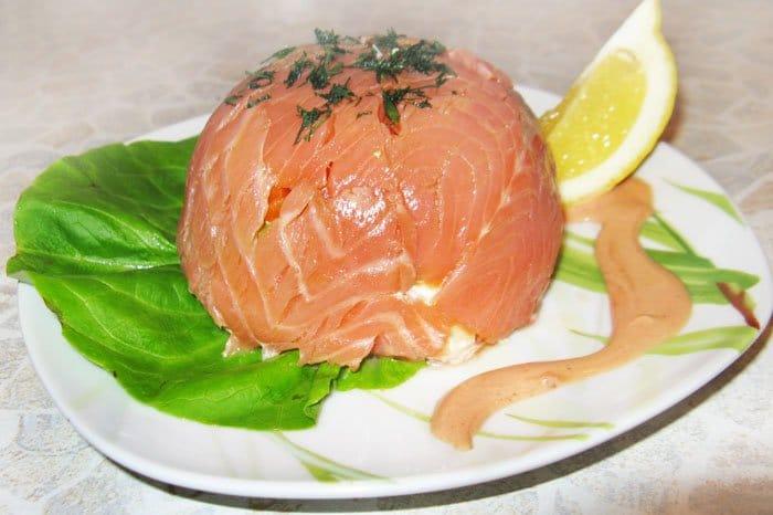 Мешочки из семги «Морская владычица» - рецепт с фото