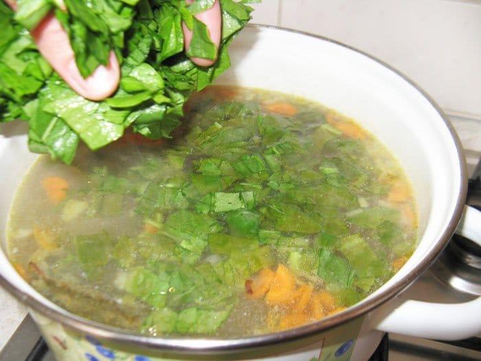 Фото рецепта - Щавельный суп - шаг 7