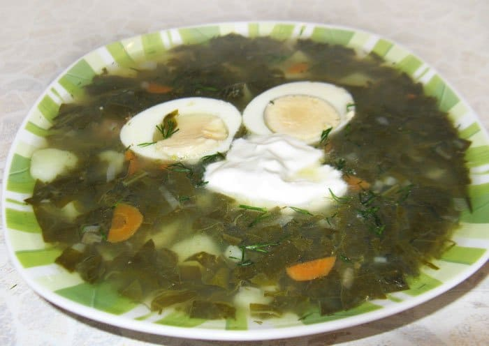 Щавельный суп - рецепт с фото