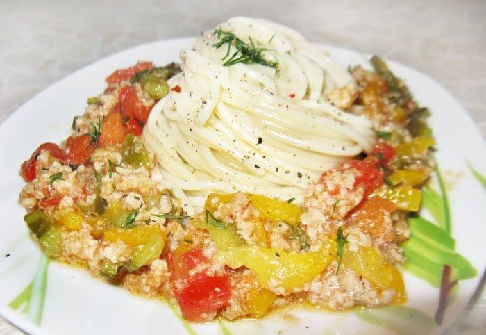 Спагетти с овощами по-итальянски - рецепт с фото