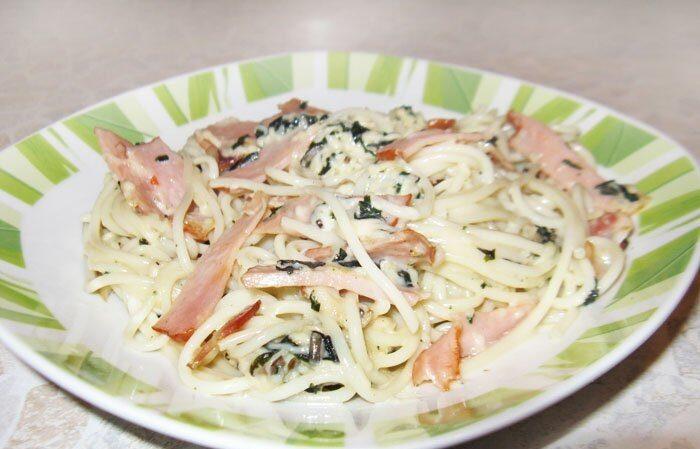 Спагетти Карбонара со сливками