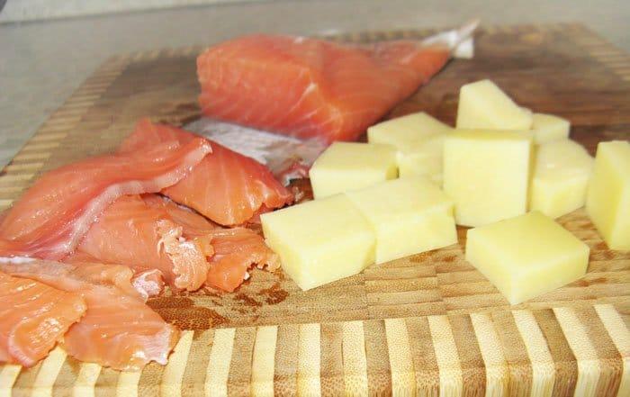Фото рецепта - Закуска по-итальянски -семга с сыром - шаг 1