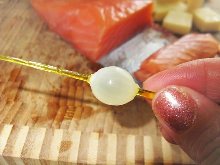 Фото рецепта - Закуска по-итальянски -семга с сыром - шаг 2