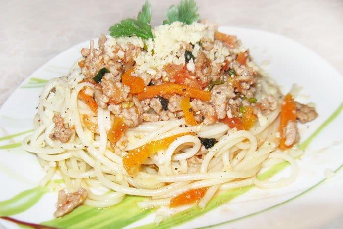 Спагетти Болоньезе - рецепт с фото