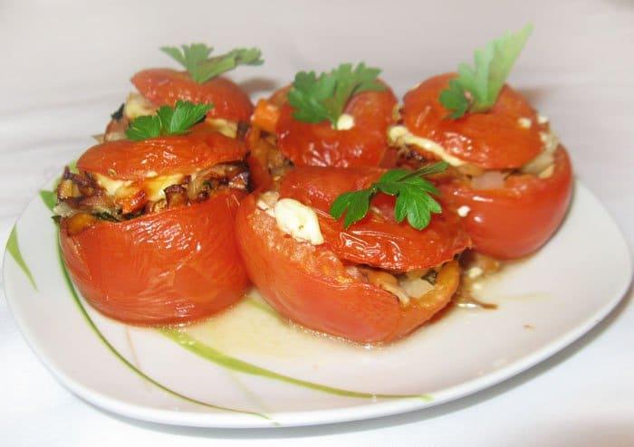 Фото рецепта - Помидоры, фаршированные грибами и кольраби - шаг 5