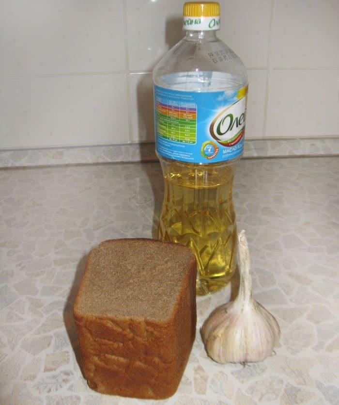 Фото рецепта - Чесночные гренки к пиву - шаг 1