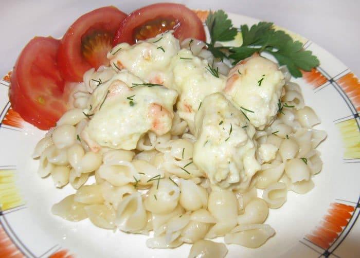 Клецки из фарша в сливочном соусе - рецепт с фото