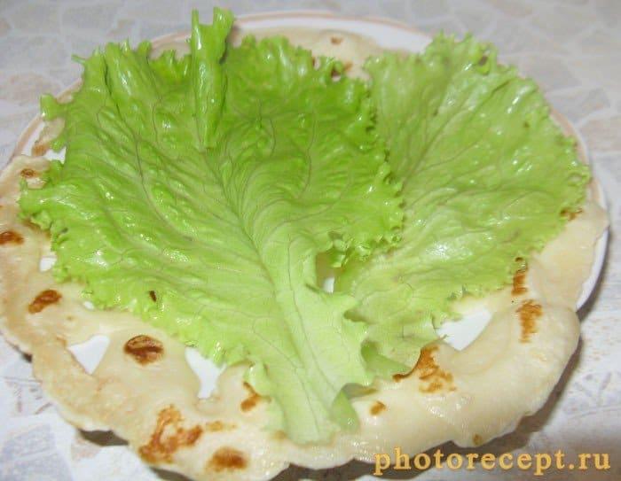 Фото рецепта - Блины макраме с творожным сыром - шаг 4