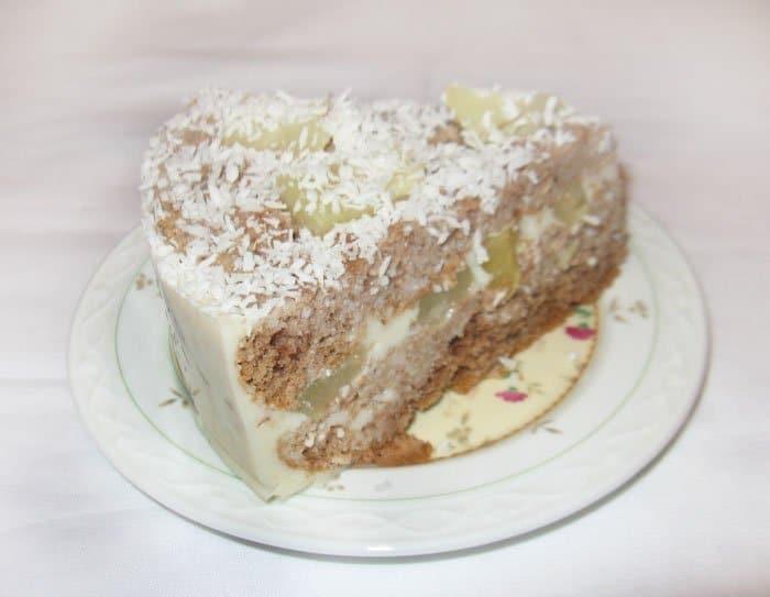 Йогуртовый торт с ананасами - рецепт с фото