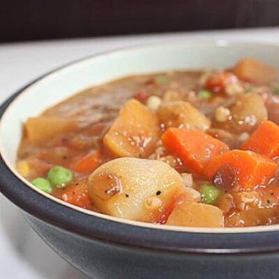 Овощное рагу с картофелем и чечевицей - рецепт с фото