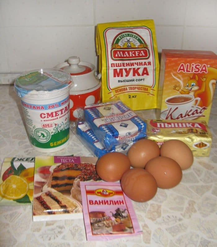 Фото рецепта - Шоколадный кекс с творожной начинкой - шаг 1
