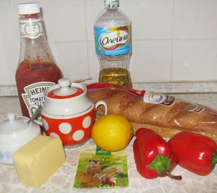 Фото рецепта - Тапас с луком и перцем - шаг 1