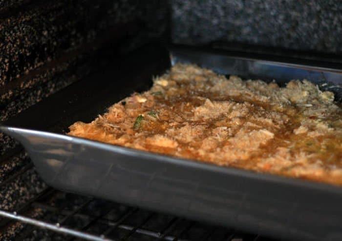 Фото рецепта - Сырная запеканка с творогом и горохом нут - шаг 3
