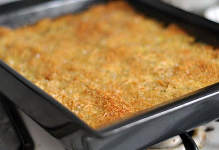 Фото рецепта - Сырная запеканка с творогом и горохом нут - шаг 4