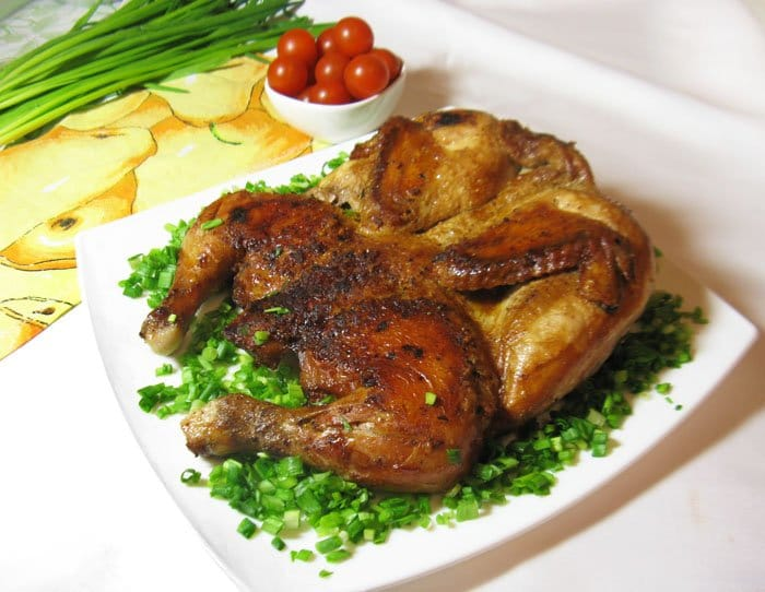 Цыплёнок табака - рецепт с фото