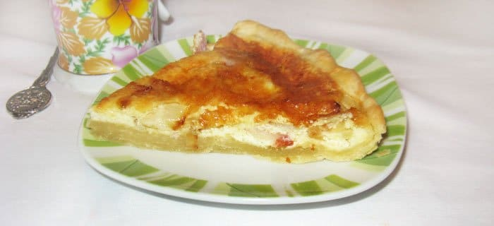 Лотарингский пирог с беконом - рецепт с фото
