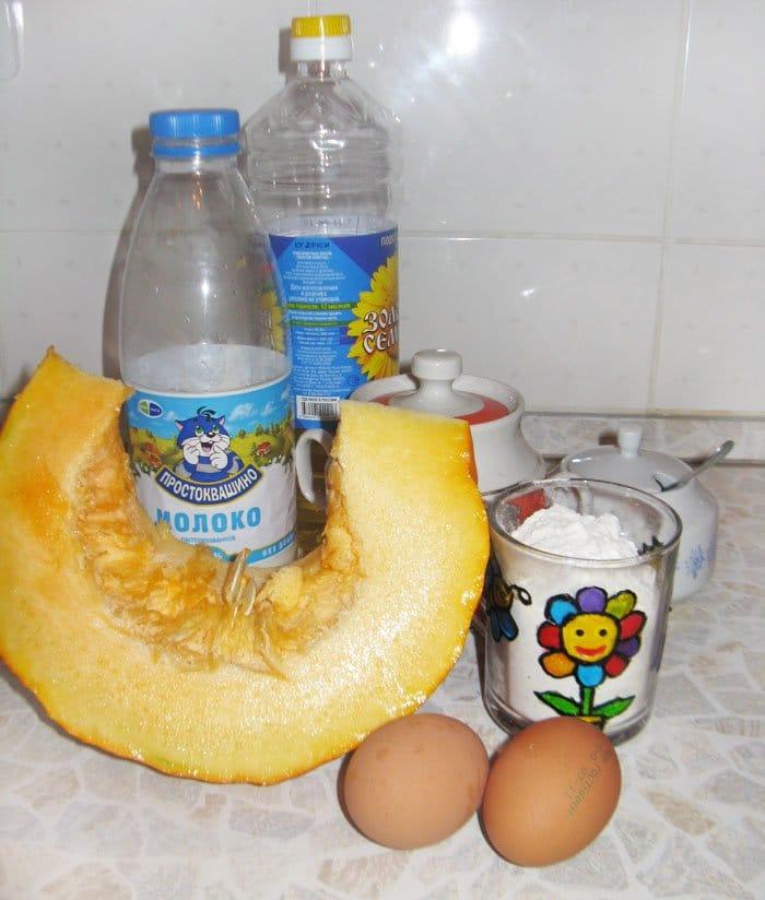 Фото рецепта - Оладьи из тыквы на молоке - шаг 1