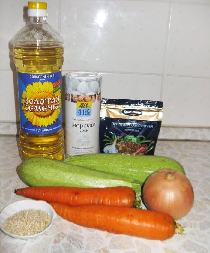 Фото рецепта - Овощное спагетти из кабачков и моркови - шаг 1