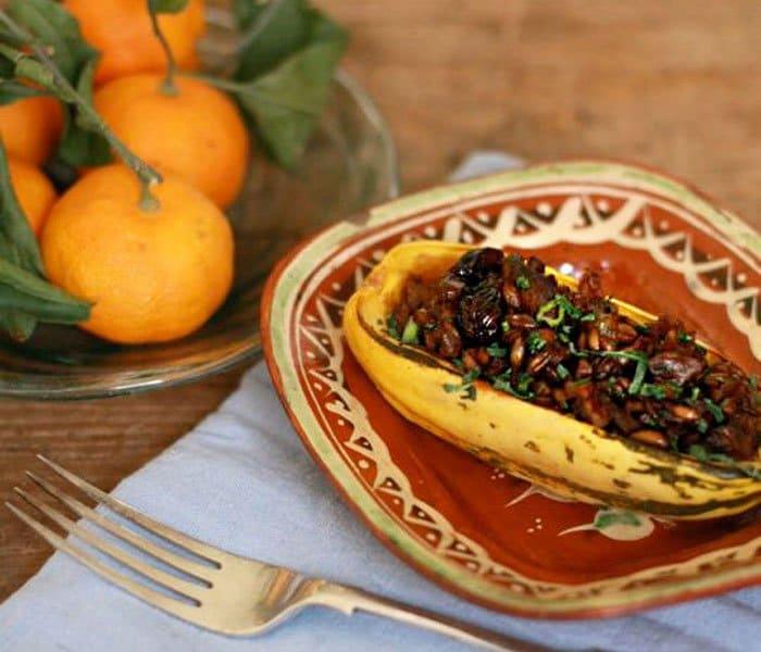 Фото рецепта - Тыква, фаршированная грибами и рисом - шаг 3