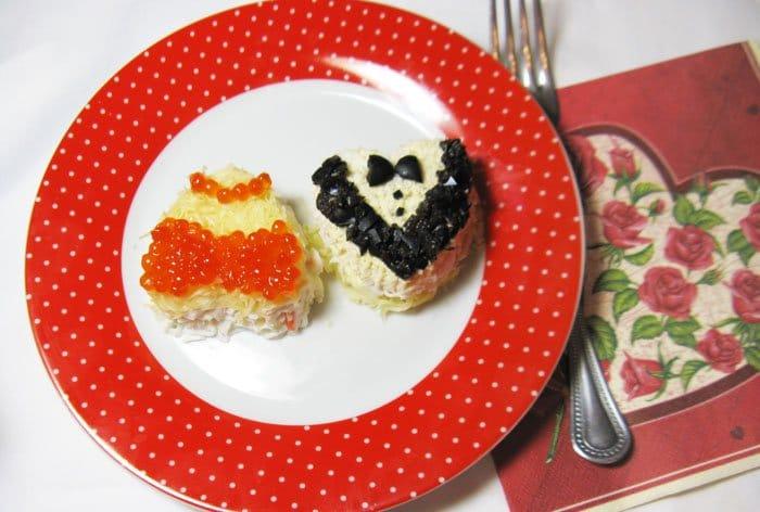Салат-мини Сердце - рецепт с фото