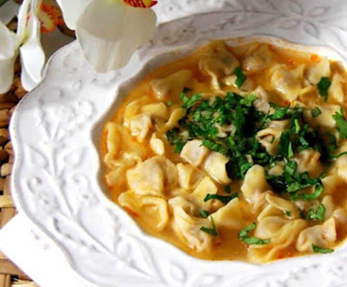 Суп с пельменями по-турецки - рецепт с фото