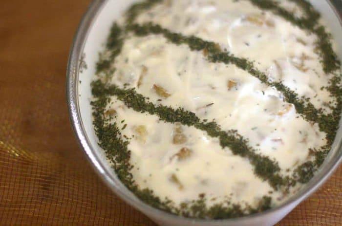 Фото рецепта - Баклажаны под йогуртом и мятой. Салат - шаг 3