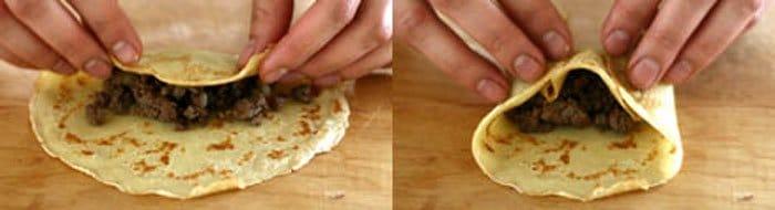 Фото рецепта - Блинчики, фаршированные мясом - шаг 3
