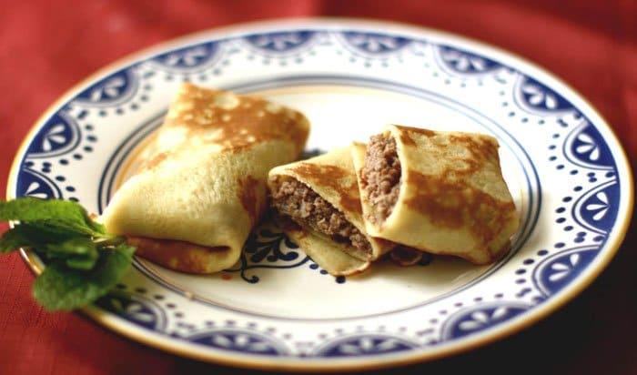 Фото рецепта - Блинчики, фаршированные мясом - шаг 4