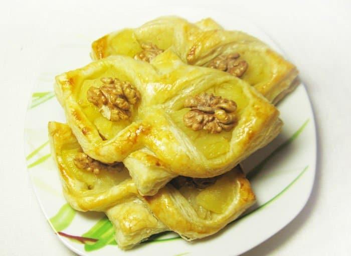 Фото рецепта - Слойка  «Сова» с ананасами - шаг 6