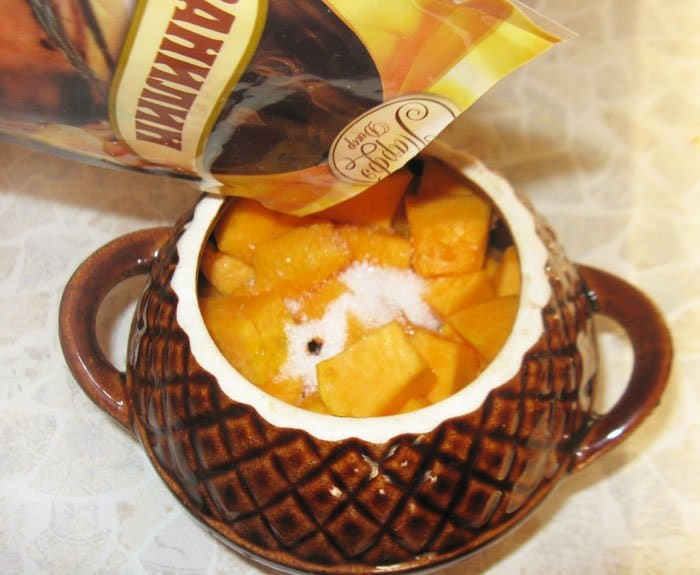 Фото рецепта - Тыква, запеченная в горшочке - шаг 2