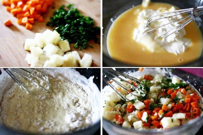 Фото рецепта - Вкусный хлеб с морковью и картофелем - шаг 1