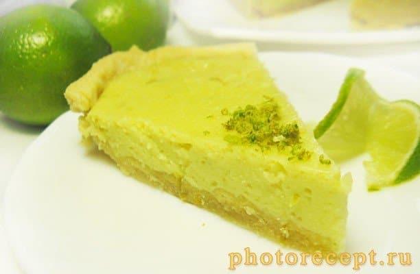 Пирог Key Lime с лаймом и сгущенкой - рецепт с фото