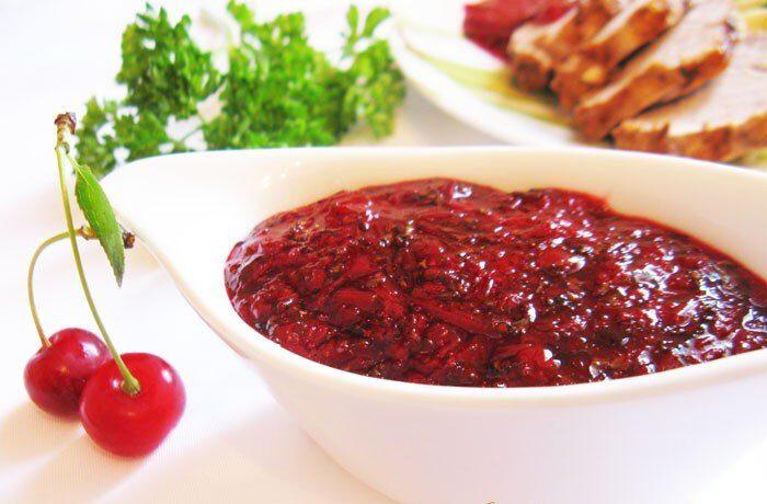 Вишневый соус к мясу