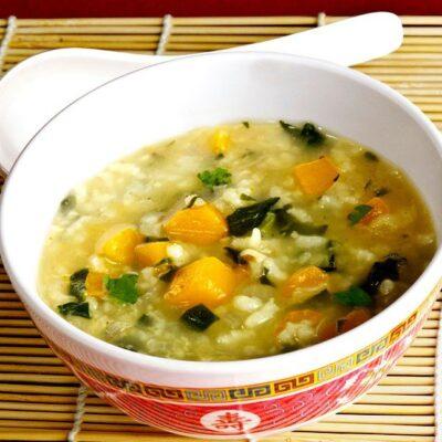 Японская рисовая каша с тыквой - рецепт с фото