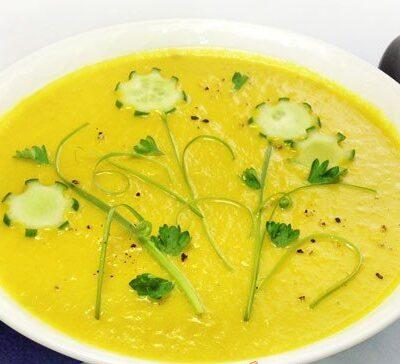 Бархатистый крем-суп с кабачков